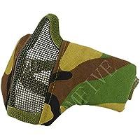 QMFIVE táctica Plegable y cinturón elástica cinturón Máscara Media máscara máscara Protectora para Airsoft Paintball CS, QM017-WL2, WL