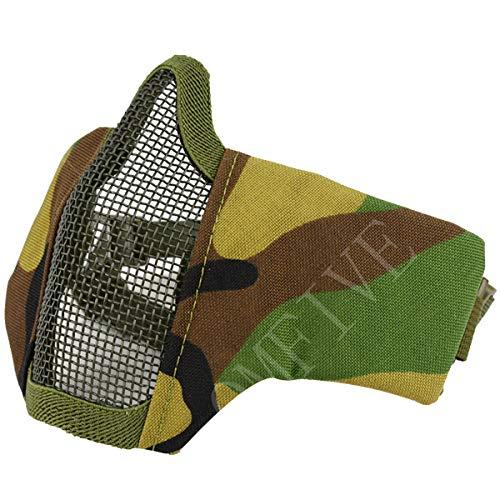 QMFIVE Taktische Faltbare verstellbare und elastische Gürtel Strap Half Face Maske Schutzmaske Maske für Airsoft Paintball CS