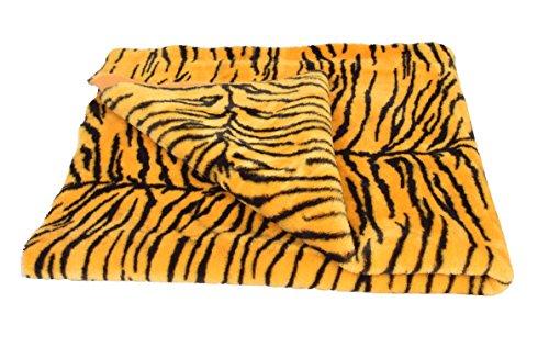 Carpet fur Cloth color Yellow tiger print , Size 38