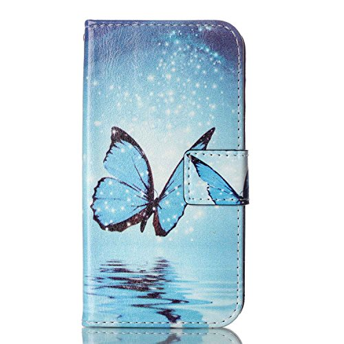 Meet de pour Apple iphone 5C Ultra Slim Flexible Transparent Soft Case / Housse / Portefeuille / Cover Étui / Housse étui - arbre blanc blue Butterfly