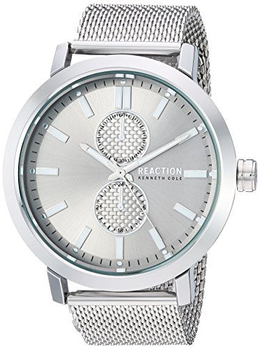 Kenneth Cole Reaction Men's Quartz Metal and Stainless Steel Casual Watch, Color:Silver-Toned (Model: RK50098009)