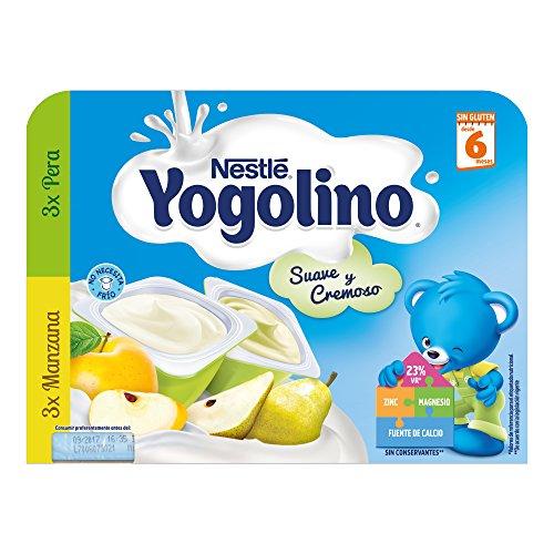 Nestlé Yogolino Postre lácteo Suave y Cremoso, 3 tarrinas de Pera y...