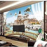 Lsfhb Murales 3D Personalizadoshermosa Ventana Balcón Paisaje De Roma 3D Sala De Estar Del Hotel Tv Tv Empapelado Del Dormitorio En La Pared-120X100Cm