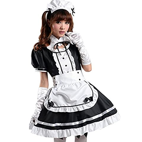 ourlove Fashion Anime Français tablier femme Costume Fancy Dress Lolita Cosplay Costume pour adulte