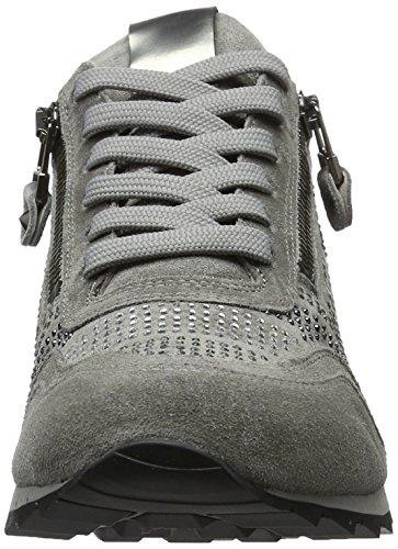 Kennel und Schmenger Schuhmanufaktur Damen Runner Sneakers Grau (stone/gun mix Sohle grau)