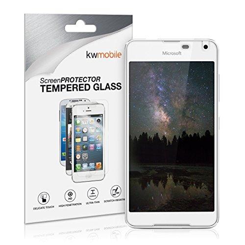 kwmobile Microsoft Lumia 650 Folie - Glas Handy Schutzfolie für Microsoft Lumia 650 - Full Screen Bildschirm Schutz