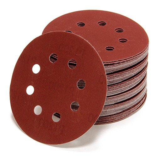 Woltersberger 10 Stück Exzenter Schleifscheiben Ø 125mm | Körnung P320 | 8 Loch in rot | für...