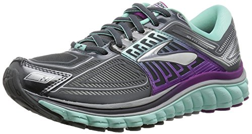 Brooks Glycerin 13 W Scarpe da corsa, Donna Anthracite/ice Green/hollyhock