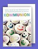Feste Feiern zur Kommunion I 5 Teile Karten Danksagung Doppelkarten mit Briefumschlägen I Steine Smileys bunt