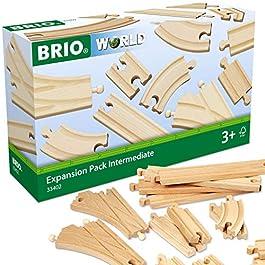 BRIO 33402 Set Binari, Pacchetto Espansione di Binari, 16 Pezzi, Età Raccomandata 3+
