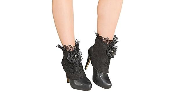Gothic Boot Covers Steampunk Schuhstulpen Piratenbraut Zubehör Schuhüberzieher