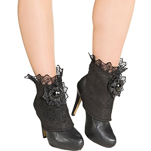 Gothic Boot Covers Steampunk Schuhstulpen Rokoko Accessoire Halloween Vampir Shoecovers Piratenbraut...