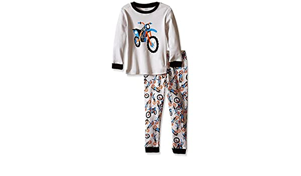 Size 2-8Years Elowel Little Boys Motorcycle 2 Piece Pajama Set 100/% Cotton