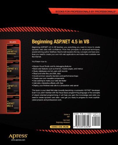 Beginning ASP.Net 4.5 in VB (Expert's Voice in .NET)
