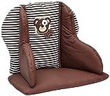 Herlag Sitzpolster für Tipp Topp Comfort und Comfort IV Hochstuhl - Stuhlkissen für Kinder - bequeme Sitzauflage - Farbe: Braun mit weißen Streifen