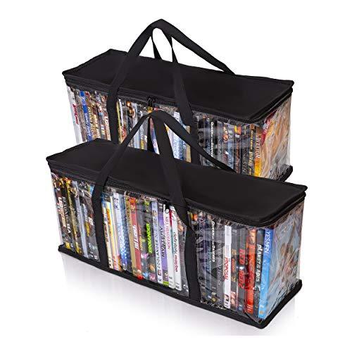 Besti Home DVD Aufbewahrungsbeutel (2er Pack) für 80Total Filmen oder Video Spiele | Praktische Reiseetui für Media | stapelbar, leicht zu transportieren -