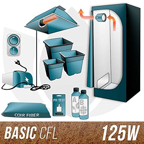 Galleria fotografica Kit CFL Cocco + Grow Box 125W - BASIC
