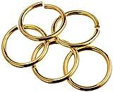Beadaholique - Anillos Abiertos de Calibre 18, chapados en Oro, 50 Unidades, 10 mm