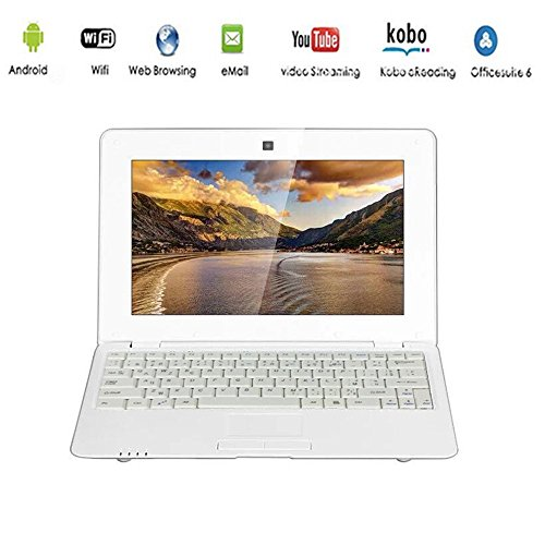 G-Anica® Netbook Ordinateur Portable Ultrabook Android 5.0 HDMI écr.10 (WiFi-SD-MMC) (Blanc)