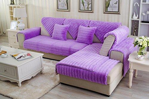 AISHUAIGE HZ Sofabezug plüsch Sofa Kissen rutschfeste schutzhülle Weichen Couch Abdeckung Sofa Protector Wohnmöbel, 90 * 160 -