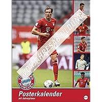 FC Bayern München Posterkalender 2022 - Bundesliga - Wandkalender mit Monatskalendarium und Jahresübersicht - 34 x 44 cm