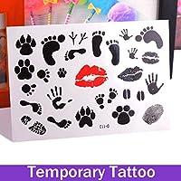 Oxita (TM)-Tappo rimovibile impermeabile con finti tatuaggi temporanei, con piede a corpo adesivi, tatuaggi da dito e femmina