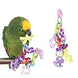 1 Pieza Pájaro Parrot Cadena de pie Juguetes Masticar juguete para mascotas Macaw Grises africanos Budgies Parakeet Cockatiels Finch