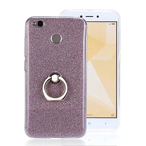 Soft Flexible TPU Back Cover Case Shockproof Schutzhülle mit Bling Glitter Sparkles und Kickstand für Xiaomi Hongmi 4X ( Color : Gold ) Pink