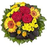 """Amazon.de Pflanzenservice Blumenstrauß  """"Blütenmeer"""" mit roten Rosen"""