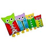 MagiDeal 4 Stück Kinder Lernspiele Set - Kleidung anziehen - Krawatte, Button, Gürtelschnalle und Zip Snap Platte - Baby Kinder Entwicklung Spielzeug