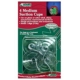 Medium Suction Cups : Pack of 4 : Ideal for Christmas Decorations and Lights