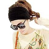 femme filles turban twist bandeau effet bandeau élastique cheveux bands yoga turban twist bandeau
