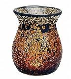 Feste Feiern Aromalampe Duftlampe Diffusor I Scentchips Mosaik Pur Glas Braun Gold Tiffany Style Duftwachs Duftöl Waxtards Teelichte
