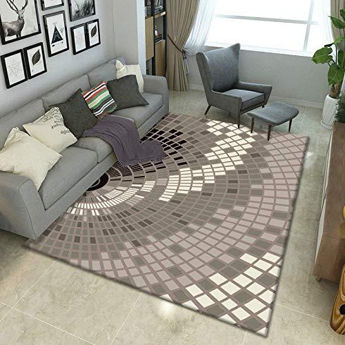 XTUK Alfombra de decoración para el hogar Alfombra de diseño Tradicional de Moda Vintage Alfombra...