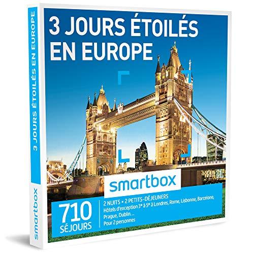 SMARTBOX - Coffret Cadeau homme femme couple - 3 jours étoilés en Europe - idée...
