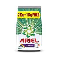 Ariel Colour Detergent Washing Powder - 2 kg with Free Detergent Washing Powder - 1 kg