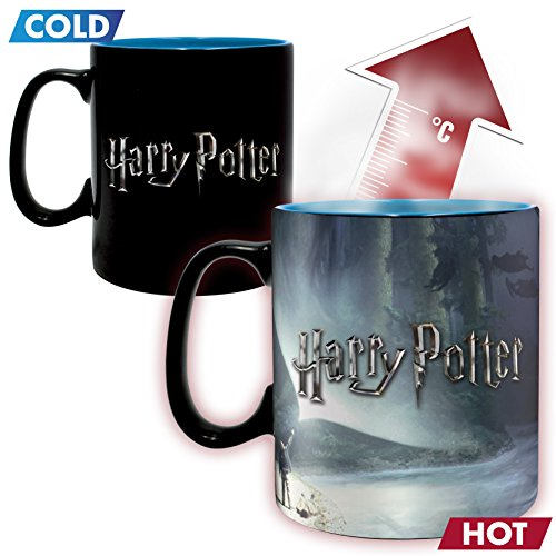 51JnO8dkTGL - ABYstyle - HARRY POTTER - taza effecto termico- 460 ml - Patronus