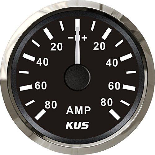 Kus Ampèremètre Amp Gauge 80 A courant avec unité de Pick-up 52 mm (5,1 cm) avec rétroéclairage