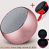 Zwando Mini Wireless Lautsprecher (Zwando) mit HD Audio und verstärktem Bass, FM-Stereo, integrierte Freisprecheinrichtung für iPhone, iPad, Samsung, BlackBerry, Huawei und mehr.