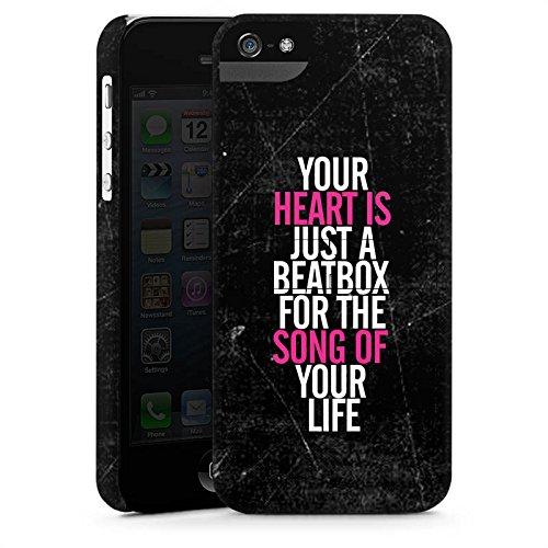 Apple iPhone X Silikon Hülle Case Schutzhülle Herz Musik Liebe Premium Case StandUp