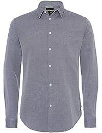 Armani Jeans Chemise Slim Fit Oxford Gris