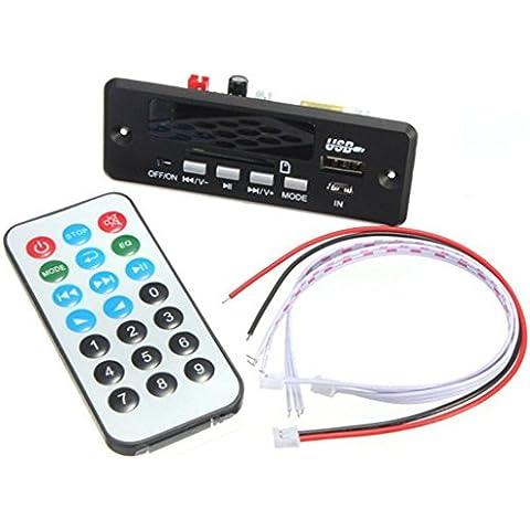 DAOKAI® TF de radio 12V USB MP3 WMA Junta Módulo Decodificador de audio para el coche