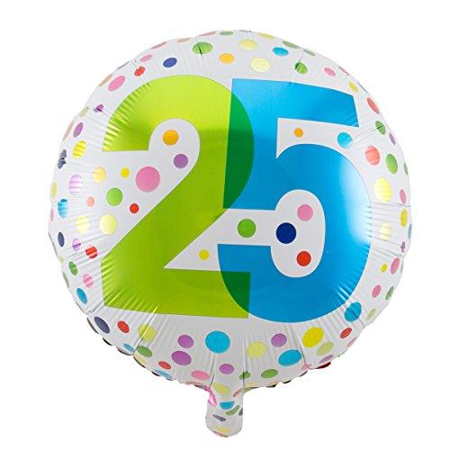 Folienballon Geburtstag Zahl 25 Rainbow dots Circa 45cm Circa Dot