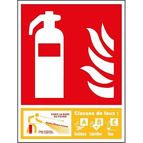 Feuerlöscher der Klasse ABC-Panel - PVC - 100 x 150 mm (A Feuerlöscher Klasse Der)