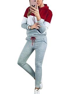 Pitashe Damen Trainingsanzug Sportanzug mit Kapuze Jogginganzug Freizeit Sport Bekleidung f/ür Frau Hausanzug Pr/äsentationsanzug Sportjacke Freizeitanzug Fitnessanzug Trainingsanzug