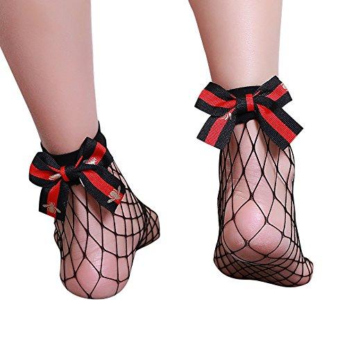 ITISME Socken Frauen Rüschen Fischnetz Knöchel hohe Socken Mesh Lace Fisch Net Kurze Socken - Knöchel Fischnetz-socken