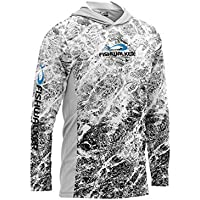 Aquatis White High Performance Fishing - Camiseta con capucha (antibacteriana, protección UV, secado en seco y suave)