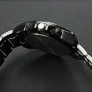 YPS Hombres Cuarzo Acero Negro Band reloj análogo WTH0812 por YPS