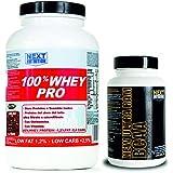 Kit composé de protéines de lactosérum (protéine de lactosérum) enrichi en vitamines et en glutamine (750 grammes...