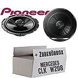 Mercedes CLK W208 Front - Lautsprecher Boxen Pioneer TS-G1720F - 16cm 2-Wege Koax Koaxiallautsprecher Auto Einbausatz - Einbauset